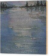 Glimmering Water Wood Print