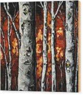 Glimpse Of Red Wood Print by Vickie Warner