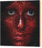 Glitter Face Wood Print