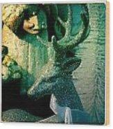 Glittered Deer Wood Print