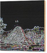 glo 248- Rollercoaster Wood Print
