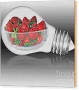 Global Strawberries Wood Print