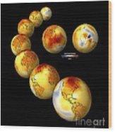Global Temperature Changes, Artwork Wood Print