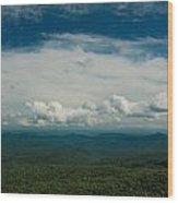 Globe And Sky Wood Print