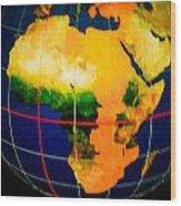 Globe Wood Print
