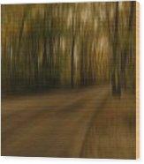 Gloomy Autumn Wood Print