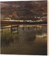 Gloomy Waters Wood Print