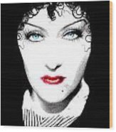 Gloria Swanson - Edith Piaf Wood Print