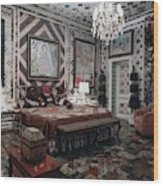 Gloria Vanderbilt's Bedroom Wood Print