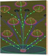 Gloriemae's Flower Wood Print