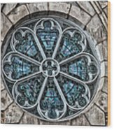 Glorious Church Stained Glass Wood Print