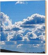 Glorious Clouds I Wood Print