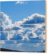 Glorious Clouds Wood Print