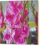 Glorious Gladiolus Wood Print