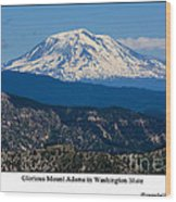 Glorious Mount Adams Wood Print
