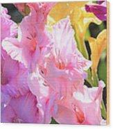 Glorious Summer Gladiolus Wood Print