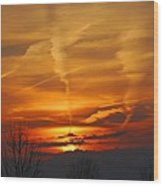 Glorious Sunset Wood Print