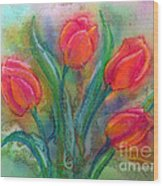 Glorious Tulips Wood Print