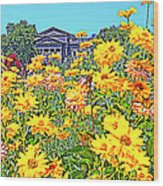 Glorious Yellow And The Franklin Wood Print