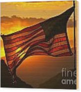 Glory At Sunset Wood Print