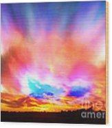 Glory Sunset Wood Print