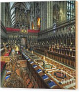 Gloucester Cathedral Choir Wood Print