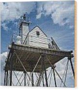 Gloucester Harbor Beacon Station Wood Print