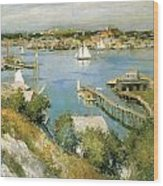 Gloucester Harbour Wood Print by William Leroy Metcalf