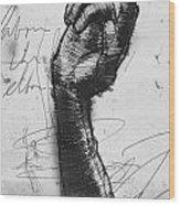 Glove Study Wood Print by H James Hoff