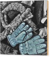 Gloves And Frost Wood Print