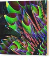 Glow In The Dark Abstract Wood Print
