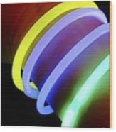 Glow-in-the-dark Bracelets Wood Print