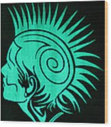 Glow In The Dark Tribal Punk Wood Print