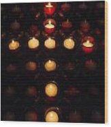 Glow Of A Cross Wood Print