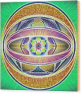 Glow Sphere Delta Wood Print
