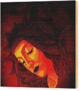Glowing Botticelli Madonna Wood Print