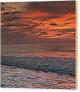 Glowing Cherry Sunset Wood Print