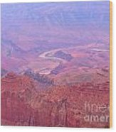Glowing Colors Of The Grand Canyon Wood Print