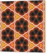 Glowing Floral Pattern Wood Print