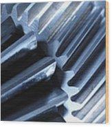 Glowing Gears Cogwheels Wood Print by Christian Lagereek