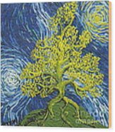 Glowing In The Balance Wood Print