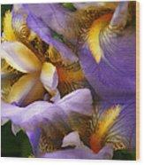 Glowing Iris' Wood Print
