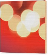 Glowing Light On Red Background, Studio Wood Print