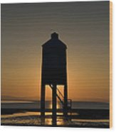 Glowing Lighthouse Wood Print by Anne Gilbert