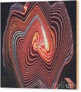 Glowing Lines Wood Print