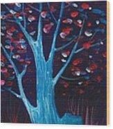 Glowing Night Wood Print by Anastasiya Malakhova