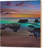 Glowing Sandy Wood Print