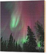 Glowing Skies Wood Print