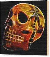 Glowing Skull Wood Print