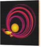 Glowing Spheres Wood Print